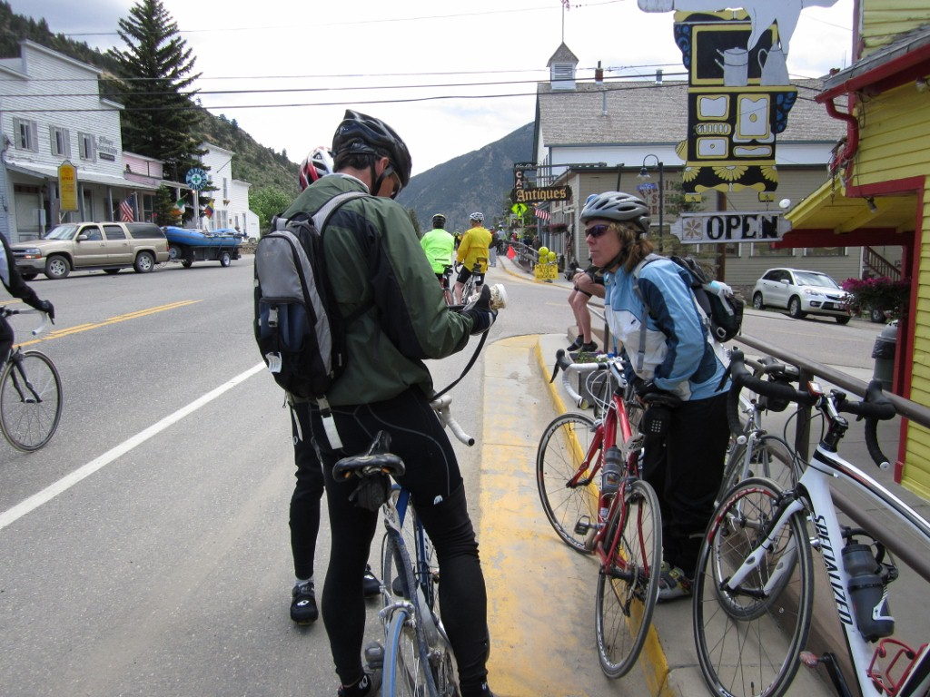 My brother explaining to his wife why he took so long to descend Berthoud Pass