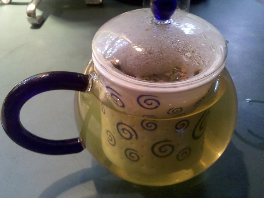 Genmaicha in teapot