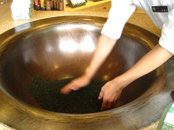 re-roasted green tea