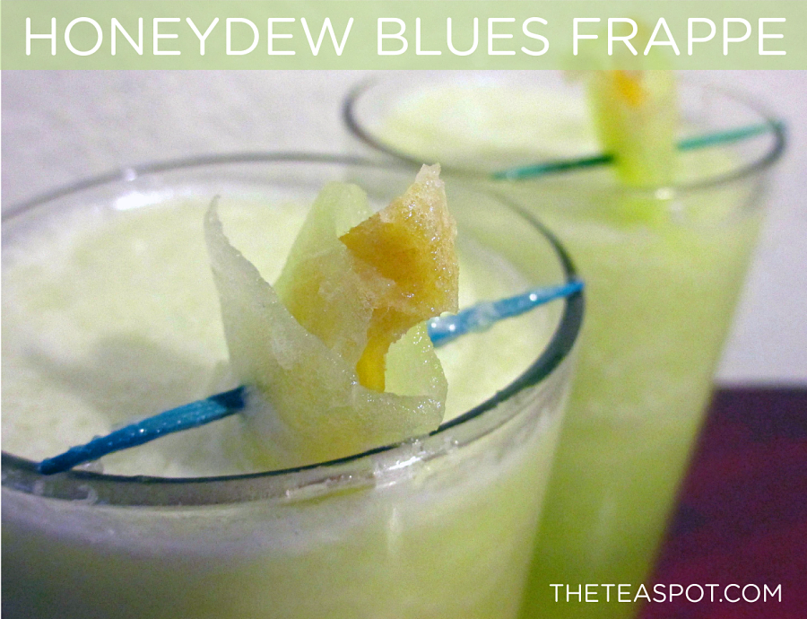 Honeydew Blues Frappes by The Tea Spot. Mmmm!