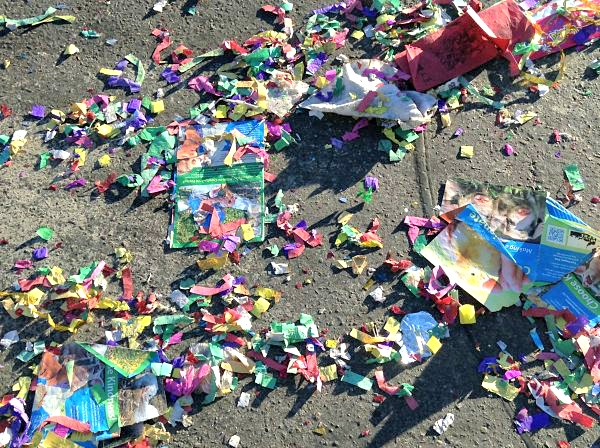 Colorful Firecracker Detritus
