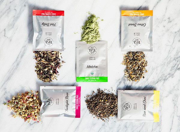 single serving packs of loose leaf tea