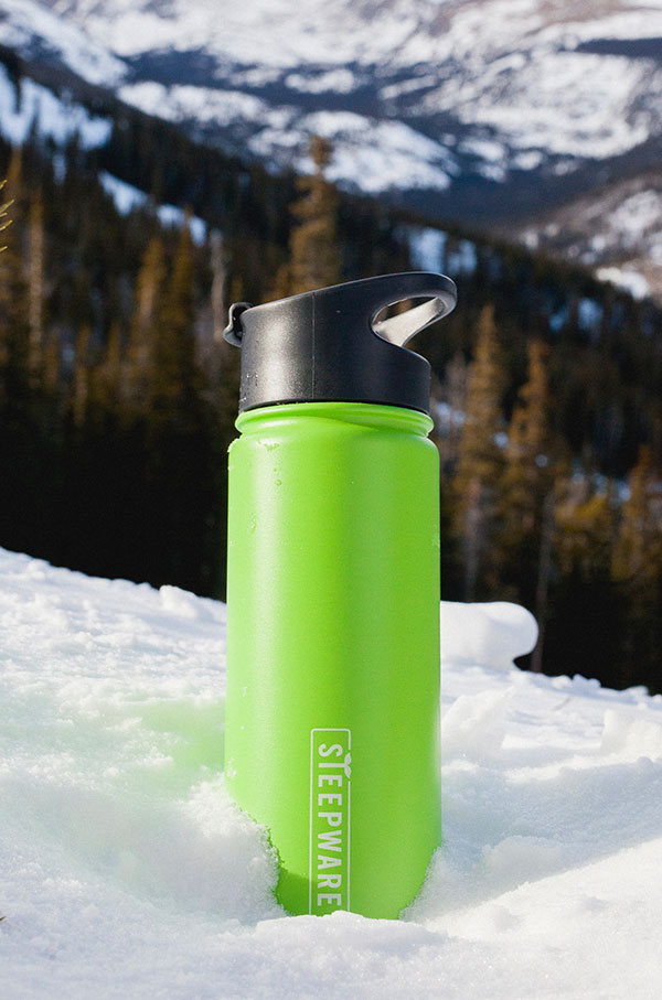 Mountain Tea Tumbler in snow