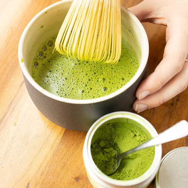 matcha tea tasting